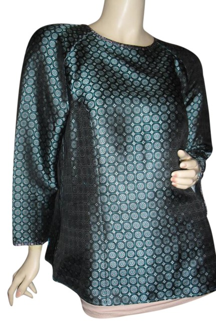 Preload https://img-static.tradesy.com/item/22017979/jcrew-turquoise-teal-pure-silk-woven-baroque-circles-squares-tunic-size-14-l-0-1-650-650.jpg