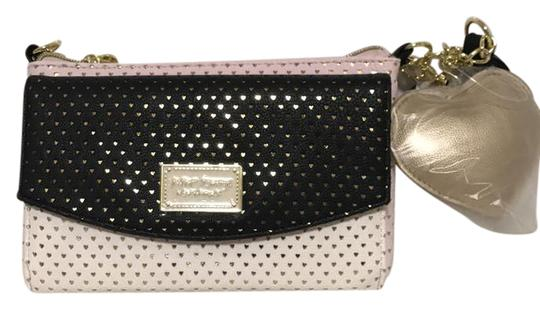 Preload https://img-static.tradesy.com/item/22017992/betsey-johnson-hint-of-baby-pink-black-and-white-with-gold-cross-body-bag-0-1-540-540.jpg
