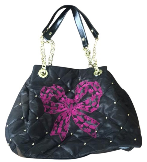 Betsey Johnson Handbag Black Leather