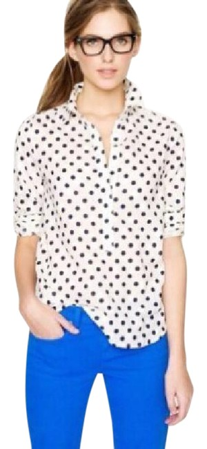 Preload https://img-static.tradesy.com/item/22018067/jcrew-white-popover-with-dark-navy-polka-dots-factory-jacquard-button-down-top-size-0-xs-0-3-650-650.jpg