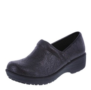 Payless Brown Paisley Mules