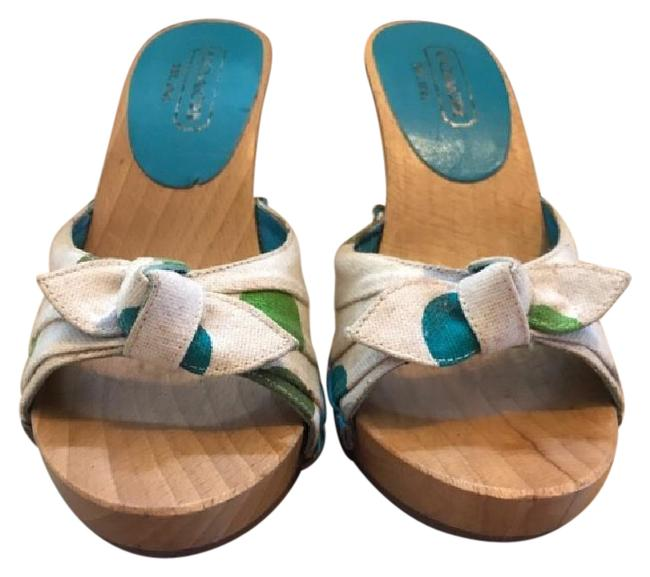 Item - Multicolor Wooden Slippers Sandals Size US 5.5 Regular (M, B)