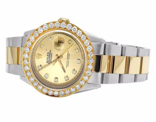 Rolex Datejust 36MM Two Tone 18K/ Steel Champagne Dial Diamond Watch 5.25 Ct