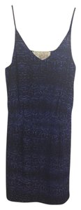 Rory Beca short dress Blue Silk Snakeskin Print Animal Print Mini on Tradesy