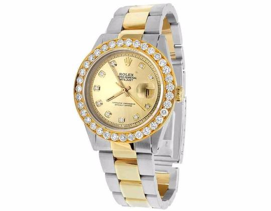 Rolex Datejust 36MM 16013 Two Tone 18K/Steel Oyster Diamond Watch 5.25 Ct