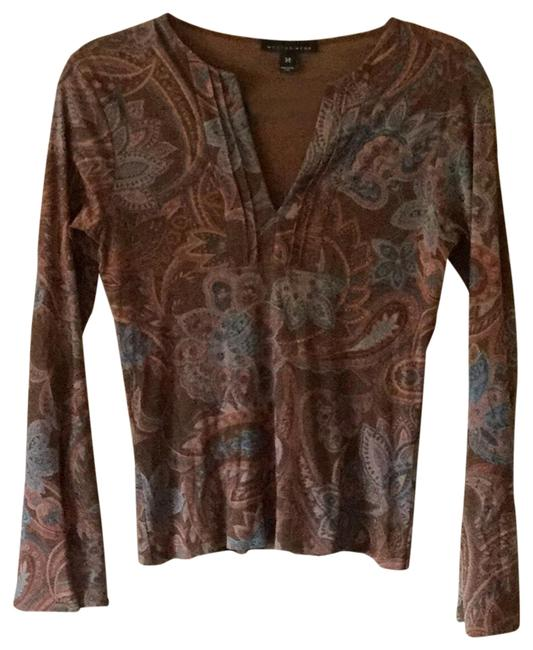Preload https://img-static.tradesy.com/item/22018409/weston-wear-brown-paisley-brownblue-blouse-size-8-m-0-3-650-650.jpg