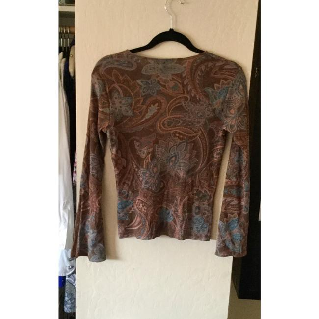 Weston Wear Fall Nylon Top Brown Paisley
