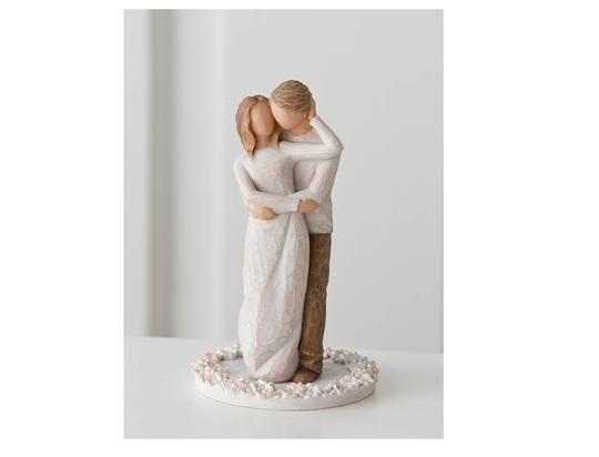 Multi Color Together Or Gift Figurine For Newlyweds Cake Topper