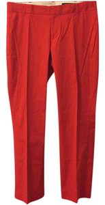 Club Monaco Straight Pants Red