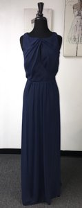 Jim Hjelm Occasions Indigo Chiffon 5350 / Formal Bridesmaid/Mob Dress Size 22 (Plus 2x)