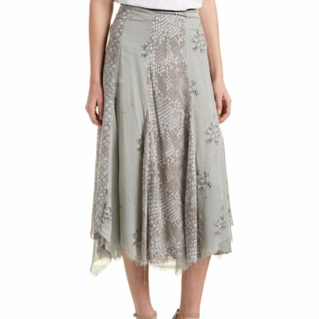 Free People Rock On Textured Sway Skirt Gray