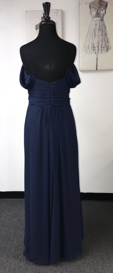 Jim Hjelm Occasions Indigo Chiffon 5508 / Formal Bridesmaid/Mob Dress Size 12 (L)