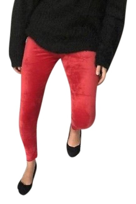 Preload https://img-static.tradesy.com/item/22018559/red-cozy-velvet-velour-stretch-fall-favorite-trend-gift-festive-leggings-size-6-s-28-0-3-650-650.jpg