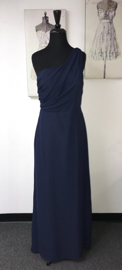 Jim Hjelm Occasions Indigo Chiffon 5378 / Formal Bridesmaid/Mob Dress Size 12 (L)
