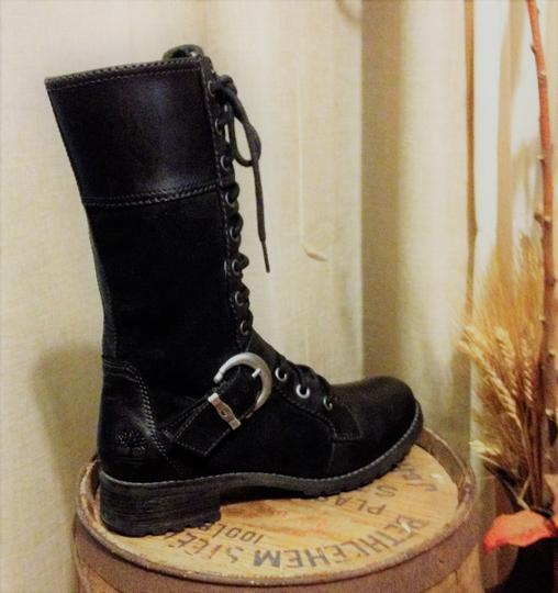Timberland Calf Suede Leather Black Boots