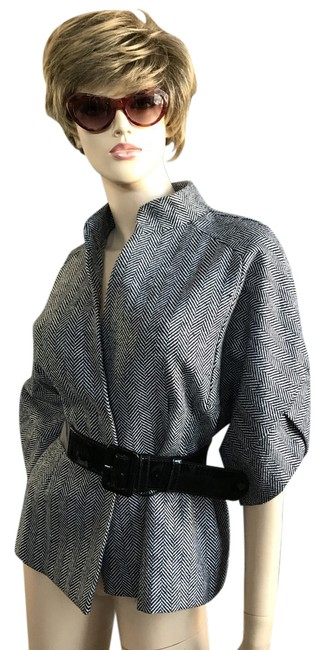 Preload https://img-static.tradesy.com/item/22018739/vertigo-paris-herringbone-wool-cropped-sleeve-belted-size-16-xl-plus-0x-0-1-650-650.jpg