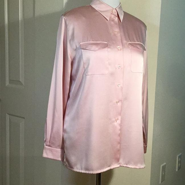 O Button Down Shirt Pink