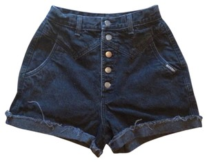 Rocky Mountain Vintage Denim Highwaisted Black Mini/Short Shorts Black denim