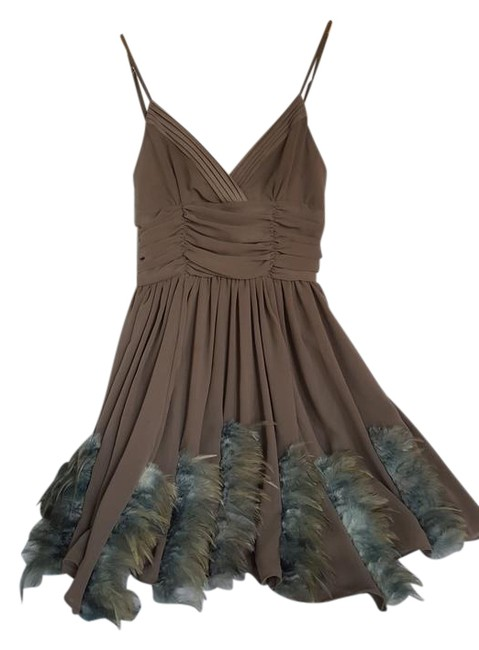 Preload https://img-static.tradesy.com/item/22018920/twelve-by-twelve-los-angeles-beige-with-teal-and-blue-tone-feather-detail-short-night-out-dress-size-0-1-650-650.jpg