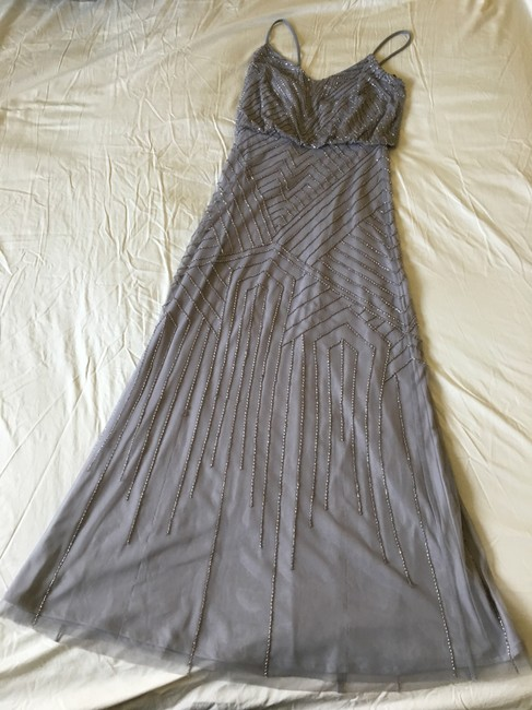 Item - Silver Gray Polyester Tulle; Polyester Lining Sophia Formal Bridesmaid/Mob Dress Size 0 (XS)