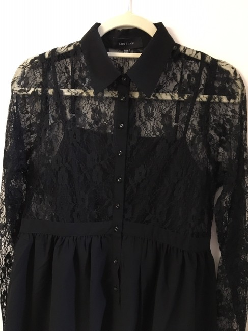 Lost Ink Slip Included Collar Dress