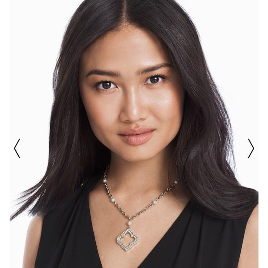 White House | Black Market pearl pendant necklace with crystal from Swarovski