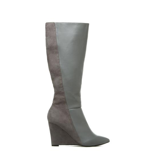 Izabella Rue Knee-high Wedge Two-tone Gray Boots