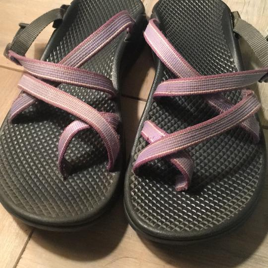Chaco black with light purple Sandals