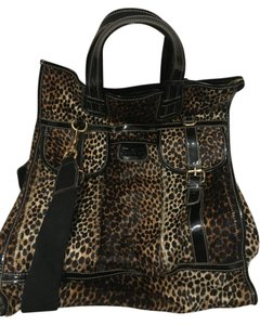Dolce&Gabbana Black Leopard Print Travel Bag
