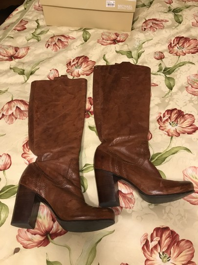 Frye Leather Pull On Antique brown Boots