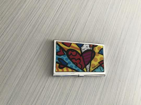 Romero Britto Silver card holder