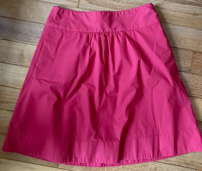 J.Crew Cotton Size 4 A Line Skirt Pink