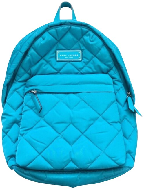 Item - Quilted Turquoise Nylon Backpack