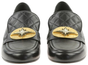 a69c153421e Chanel Lambskin Cc Quilted Mocassins Moccasins Black Flats