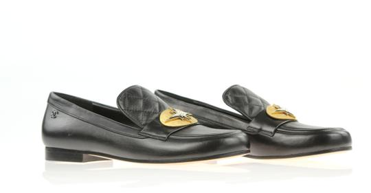 Chanel Lambskin Cc Quilted Mocassins Moccasins Black Flats