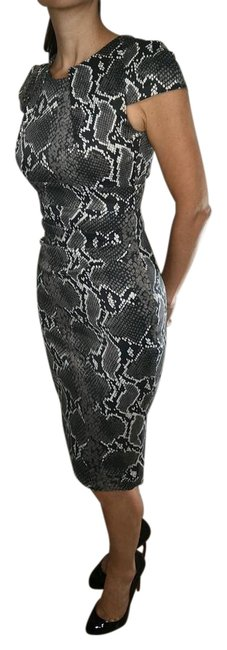 Item - Gray/Multi Mid-length Formal Dress Size 2 (XS)