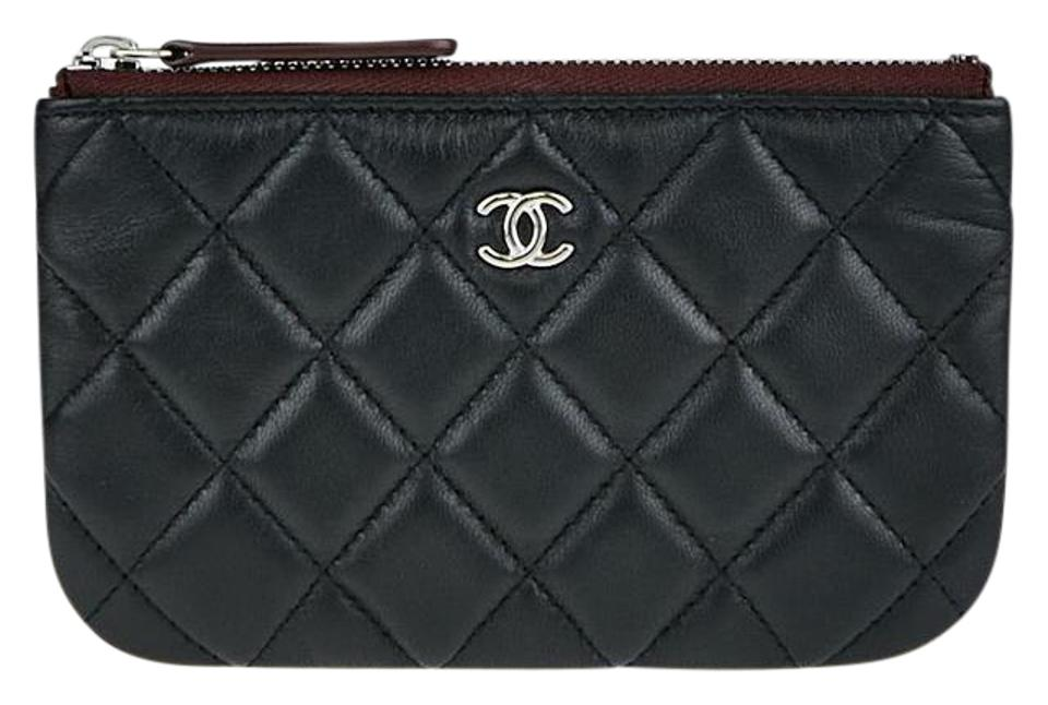 bec6ad424a186e Chanel Chanel Lambskin Quilted Small O Case Small Black Cosmetic Pouch  Image 0 ...