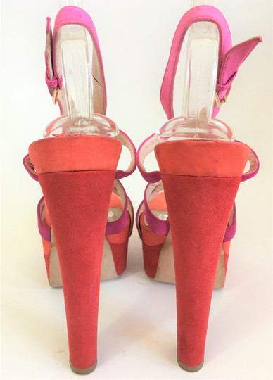 Brian Atwood High Slingback Pink Red Sandals