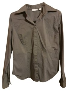 New York & Company Button Down Shirt gray
