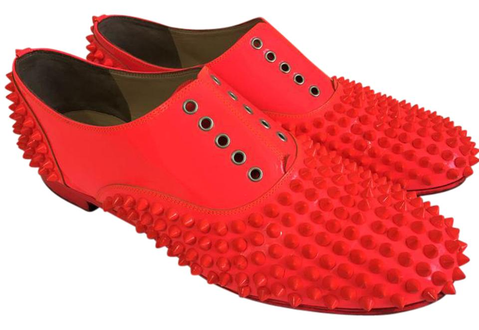 404c700f646 Christian Louboutin Hot Pink 39it Freddy Oxford Patent Leather Heel Lady  Red Sole Toe Spike Flats Size EU 39 (Approx. US 9) Regular (M, B) 69% off  ...