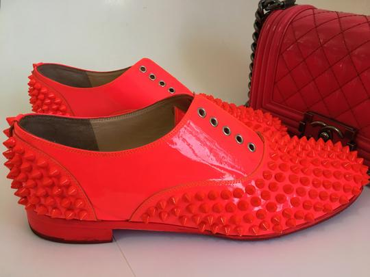 Christian Louboutin Pigalle Pumps Heel Freddy Oxford Hot Pink Flats