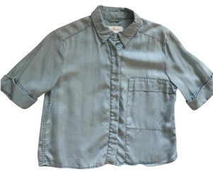 7 For All Mankind Button Down Shirt light blue