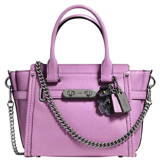 Preload https://img-static.tradesy.com/item/22019915/coach-swagger-new-21-with-willow-floral-detail-57332-purple-leather-satchel-0-1-540-540.jpg