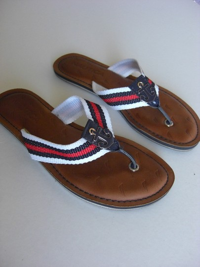 Nautica Flip Flop Thong Anchor Red, White & Blue Flats