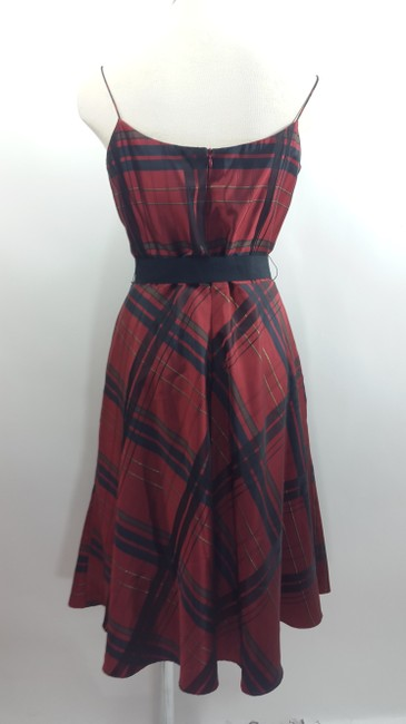Jessica Howard Scottish Print Grossgrain Ribbon Plaid Holiday Red Dress