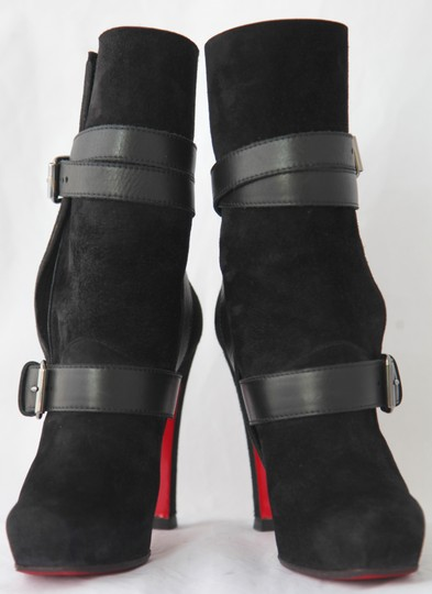 Christian Louboutin Thigh High Ankle Pumps Black Boots