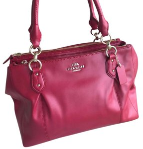 Coach Leather Colette Classic Women Carryall Satchel in Red