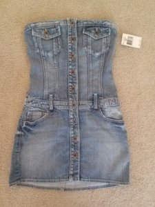 Guess short dress blue denim Denim Jumper Jean Jean Denim Romper 90's Britneyspears on Tradesy