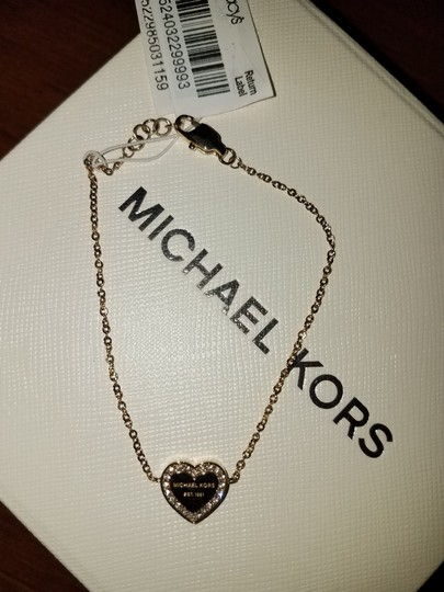Michael Kors 3 PIECE SET-Mother of Pearl Necklace-Earrings set & Heart Bracelet Image 1