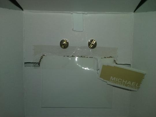 Michael Kors 3 PIECE SET-Mother of Pearl Necklace-Earrings set & Heart Bracelet Image 9